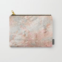 Silver Rose Gold Fusion Carry-All Pouch