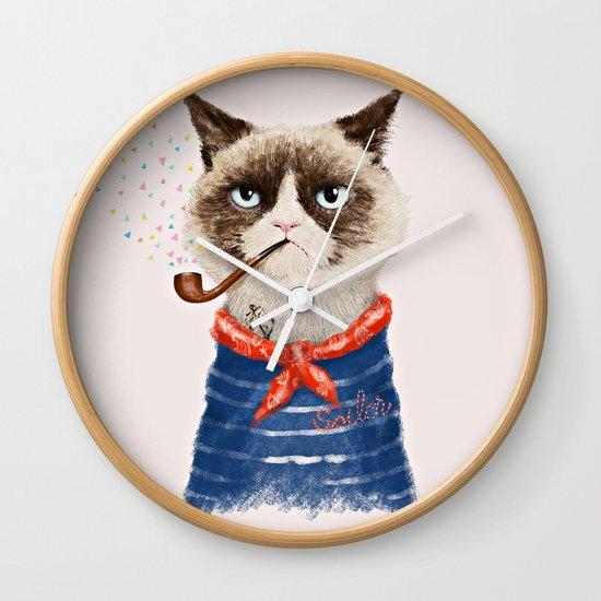 Sailor Cat V Wall Clock