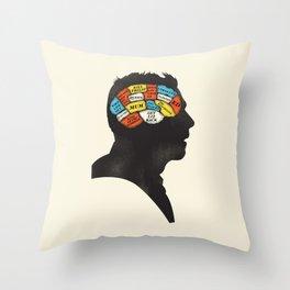 Shaun Phrenology Throw Pillow