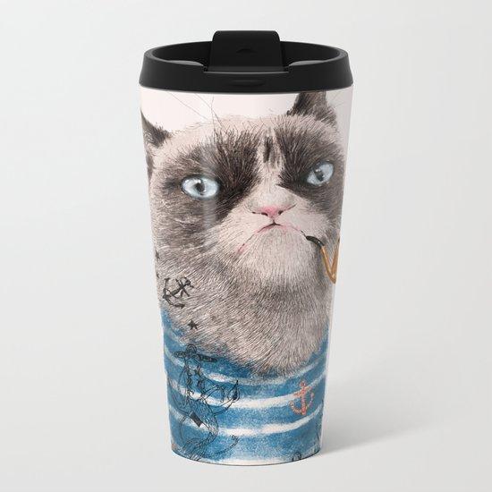 Sailor Cat III Metal Travel Mug