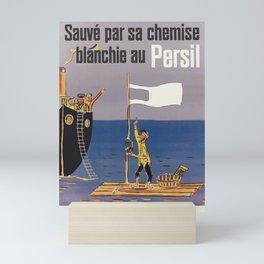 Advertisement persil sauve par sa chemise Mini Art Print