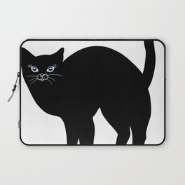 Black cat tshirt.Time spent with cat is never wasted  Laptop Sleeve