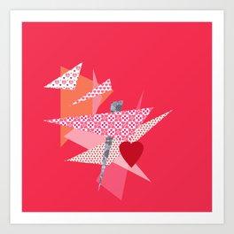 Valentine Abstract Art Print