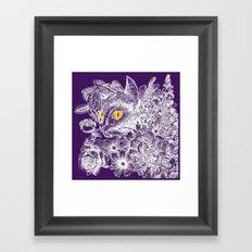 Fleur de Feline Framed Art Print