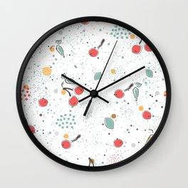 Lovely Berries Wall Clock