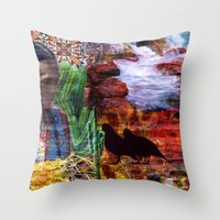southwest Throw Pillows featuring Southwest by ArtbyJudi