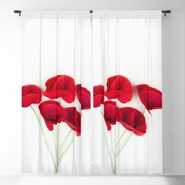 A Bunch Of Red Poppies Blackout Curtain
