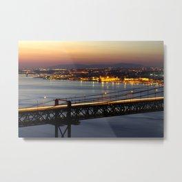 Bridge Over Tagus Metal Print