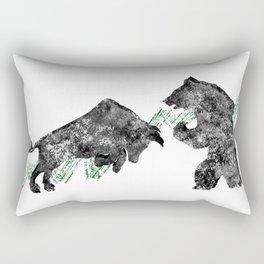 Bear vs. Bull #3 Rectangular Pillow