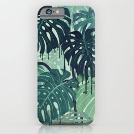 Monstera Melt (in Green) iPhone Case