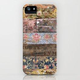 Enjoy Today (Shabby Chic) iPhone Case