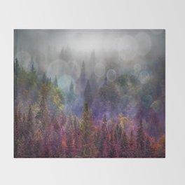 Four Seasons Forest Throw Blanket