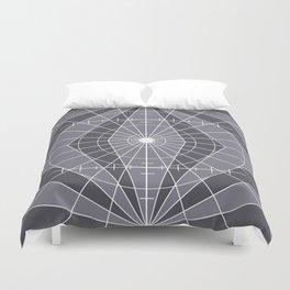 Monochrome Minimalist Geometric Lines Design Duvet Cover