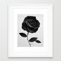 rose Framed Art Prints featuring Fabric Rose by Ruben Ireland