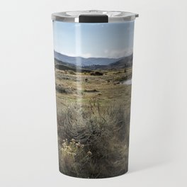 Waiting for Wolves in Lamar Valley - Yellowstone Travel Mug