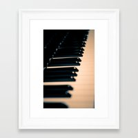 piano Framed Art Prints featuring piano by noirblanc777
