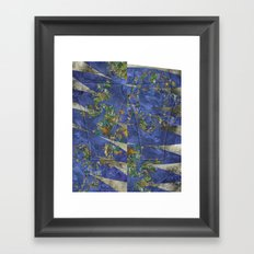 Fractal Earth Framed Art Print