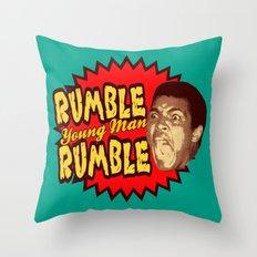 Rumble Young Man Rumble     Ali Throw Pillow