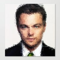 leonardo dicaprio Canvas Prints featuring Leonardo DiCaprio by lauramaahs
