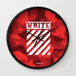 Off-White Bape Camo Red Wall Clock