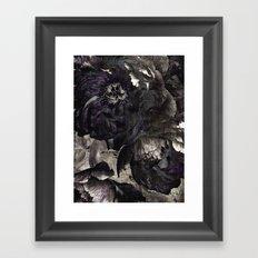 goth peony Framed Art Print