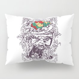Skull with Brain OUT Pillow Sham