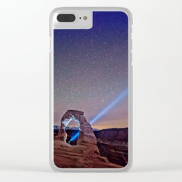 Starry Night Pointer Clear iPhone Case