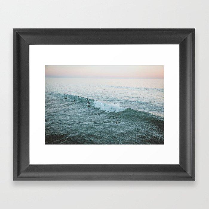 lets surf v Gerahmter Kunstdruck