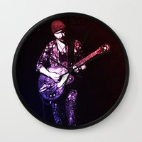 u2 Wall Clocks featuring U2 / The Edge by JR van Kampen