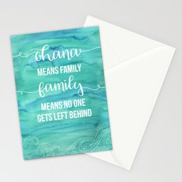 Ohana means Family Stationery Cards