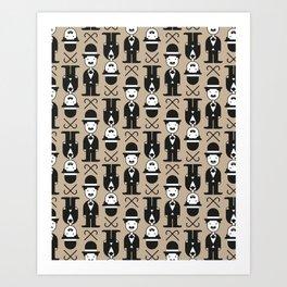 Charlie Chaplin Pattern Art Print