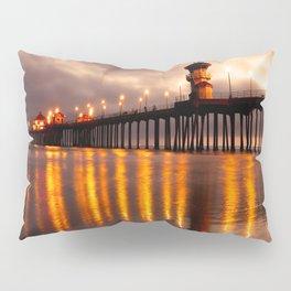 Sunset Huntington Beach Pier   Pillow Sham
