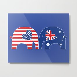 U.S.-Australia Friendship Elephants Metal Print