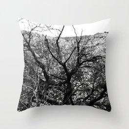 B&W Tree Throw Pillow