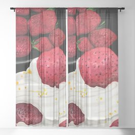 Strawberry Dream Sheer Curtain
