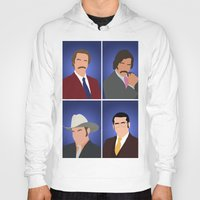 anchorman Hoodies featuring News Team Assemble - Anchorman by Tom Storrer