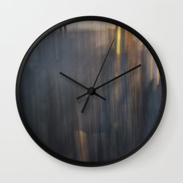 Grey Sunset Abstract Wall Clock