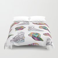 hologram Duvet Covers featuring watercolor back to the future 2 by Sarah Brust