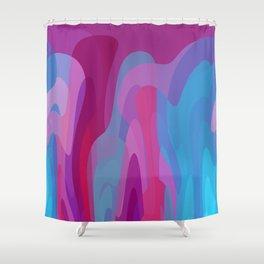 Bubblegum waves Shower Curtain