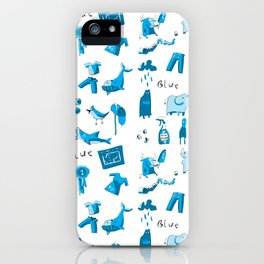 Blue Things iPhone Case