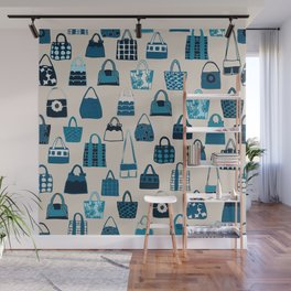 Handbag Blues Wall Mural