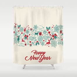 Happy New Year Shower Curtain