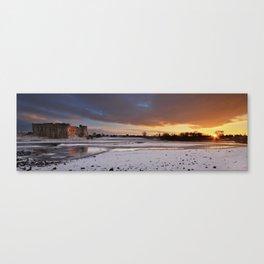 Carew Castle Winter Sunset Canvas Print