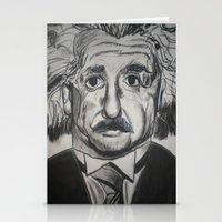 einstein Stationery Cards featuring Einstein  by jleto123