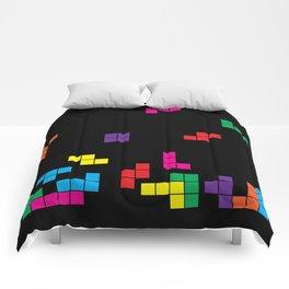 tetris on black Comforters
