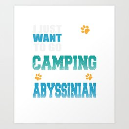 Camping with my Abyssinian Cat Art Print