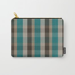 Knitted stripes in autumn colors Carry-All Pouch