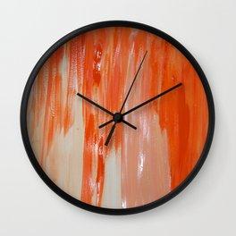 Tangerine Fondue Wall Clock