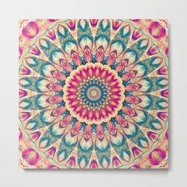 Flower Of Life Mandala (Summer Daisy) Metal Print