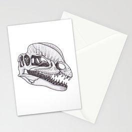 Dilophosaurus skull Stationery Cards